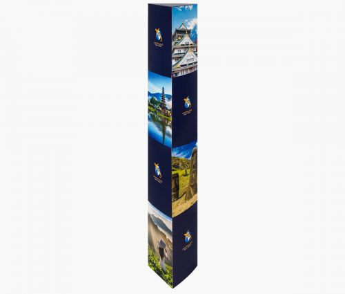 Triangle Totem - Perfect for shops, cinemas, offices ✦ Window2Print