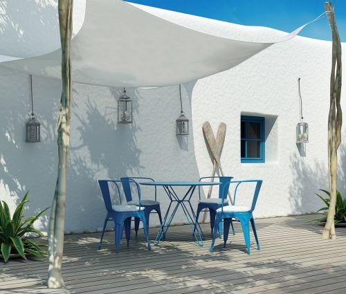 Rectangular shade sail 300 x 250 cm – waterproof – white