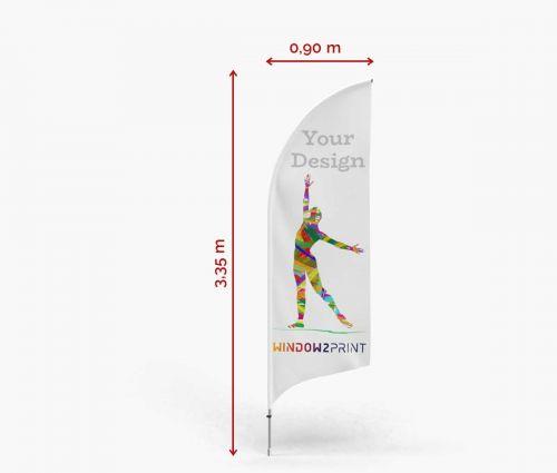 Alu Feather Flag Bend M - Window2Print
