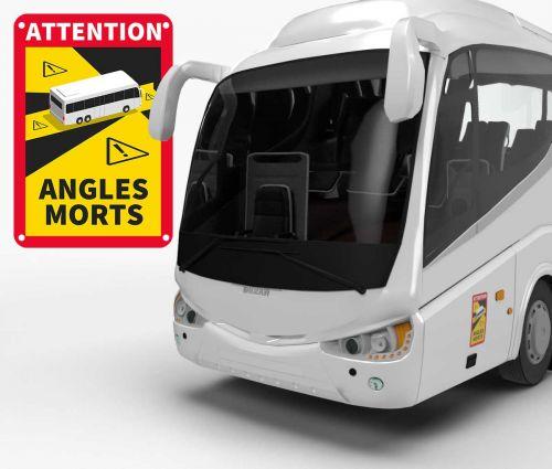 Sign Angles Morts - Aluminium Composite 3 mm - BUS - Window2Print