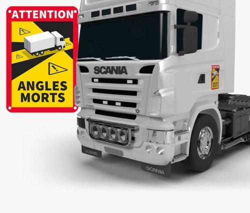 Sign  Angles Morts- Aluminium Composite 3 mm - TRUCK - Window2Print