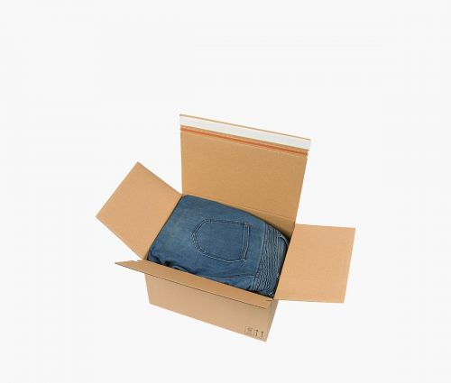Cardboard Box AUTO 70 - Tear-open strip ✦ Window2Print