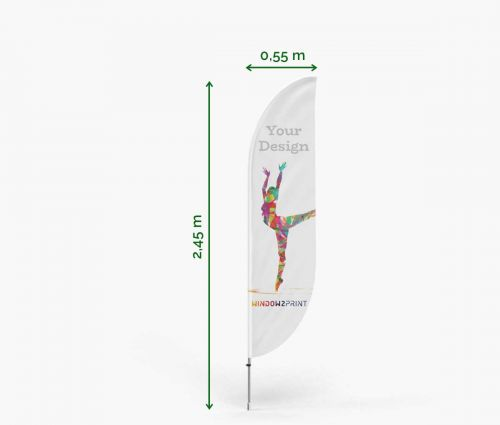 Classic Feather Flag Bend S - Window2Print