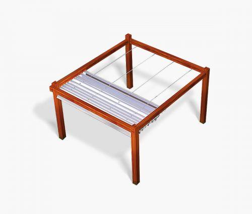 Pergola canopy 300 x 300 cm - waterproof - white