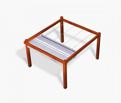Pergola canopy 250 x 400 cm - waterproof - white - Window2Print