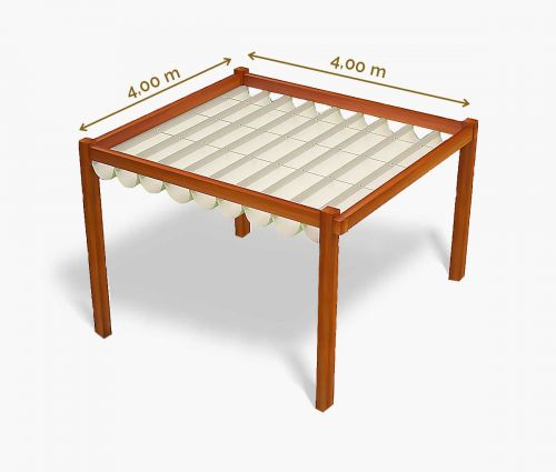 Pergola canopy 400 x 400 cm - waterproof - white