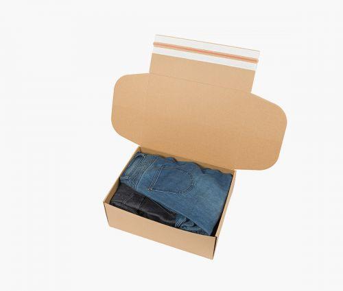 Cardboard Box FAST 50 - Easy to fold ✦ Window2Print