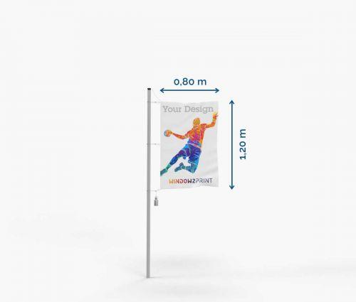 Flag - Polyester - 80 x 120 cm - with hooks I Window2Print