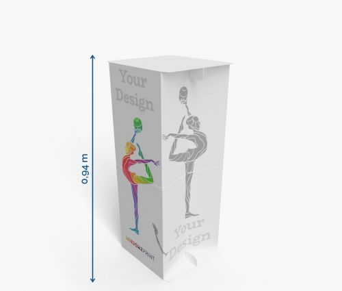 Cardboard counters 38 x 41 x 94 cm ✦ Window2Print