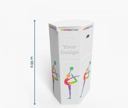 Cardboard counters 62 x 40 x 95 cm ✦ Window2Print
