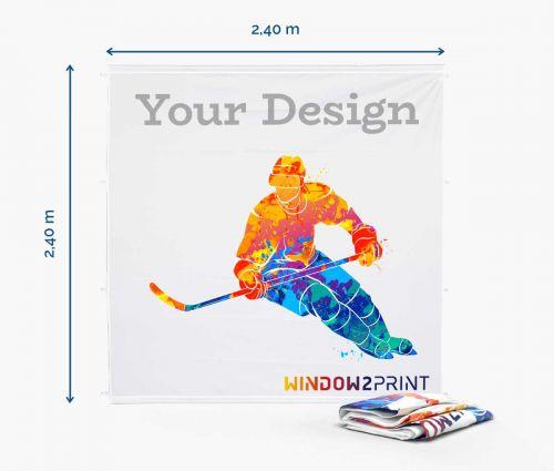 Backdrop stand 240 x 240 cm - printout