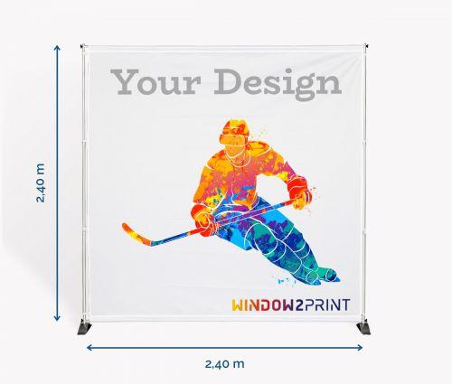 Backdrop stand 240 x 240 cm - Window2Print