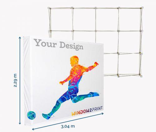 Fabric Display Hop-Up L / 3x4 - Window2Print