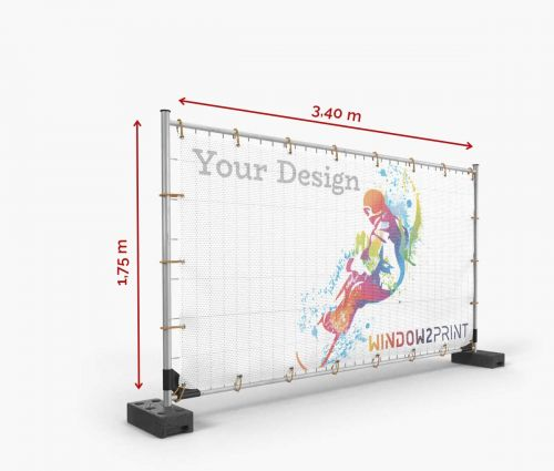 Mesh fence banner 340 x 175 cm - Window2Print
