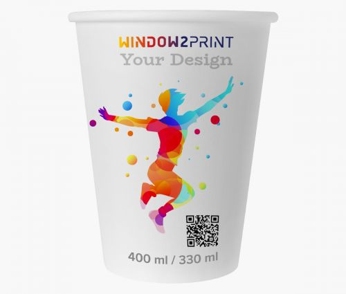 Paper cups with lids - Window2Print