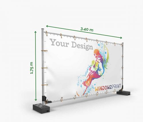 Scaffold banner printing