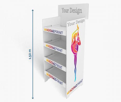Cardboard display stand ✦ Window2Print