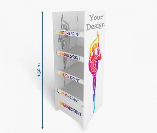 Shelf Display 2 - 60 x 40 x 150 cm ✦ Window2Print