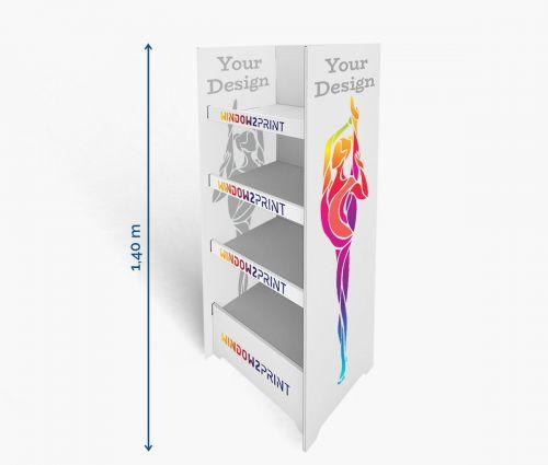 Shelf Display 3 - 60 x 40 x 140 cm - Window2Print