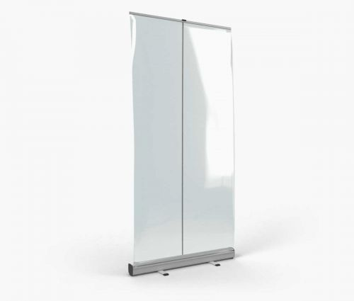 Rollup with transparent banner 100 x 200 cm ✦ Window2Print