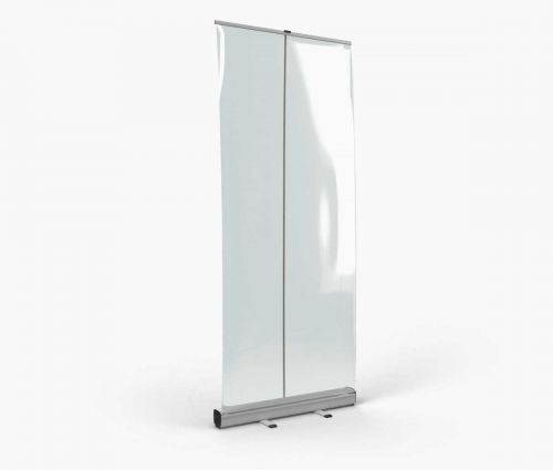 Roll up with transparent banner 85 x 200 cm ✦ Window2Print