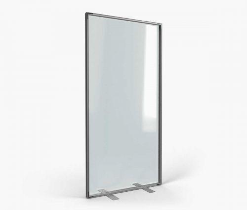 Alu transparent stand inside 100 x 200 cm - Window2Print