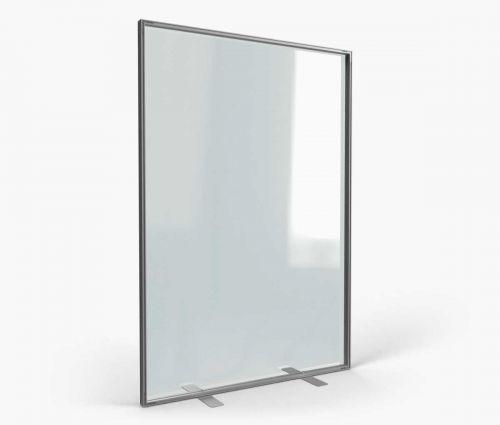 Alu transparent stand inside 138 x 200 cm - Window2Print