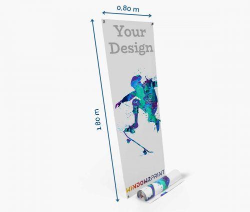 X-banner 80 x 180 cm - printout