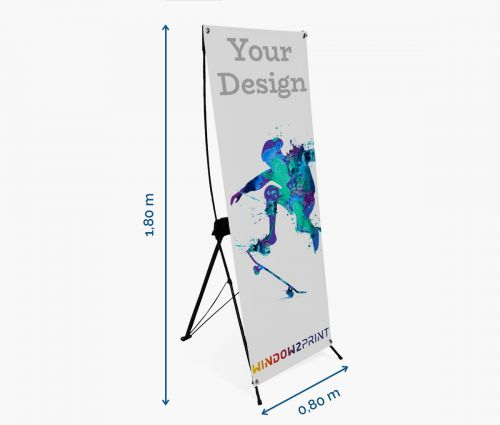 X-banner 80 x 180 cm - Window2Print