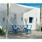 Rectangular shade sail 400 x 400 cm – waterproof – white