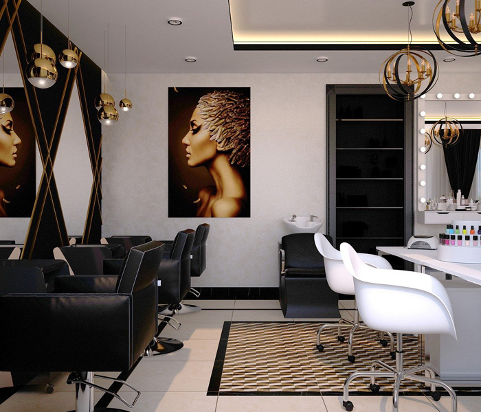 How can you advertise hairdressers with fabric banners?